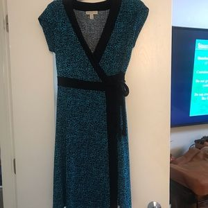 Blue Dana Buchman wrap dress